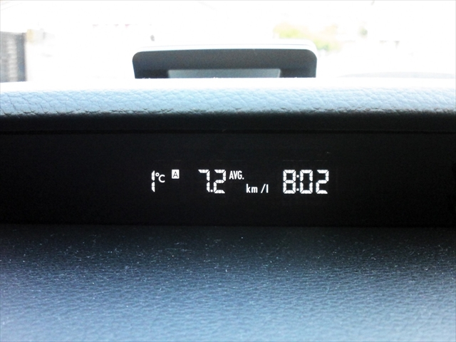 2012年12月7日の朝の外気温