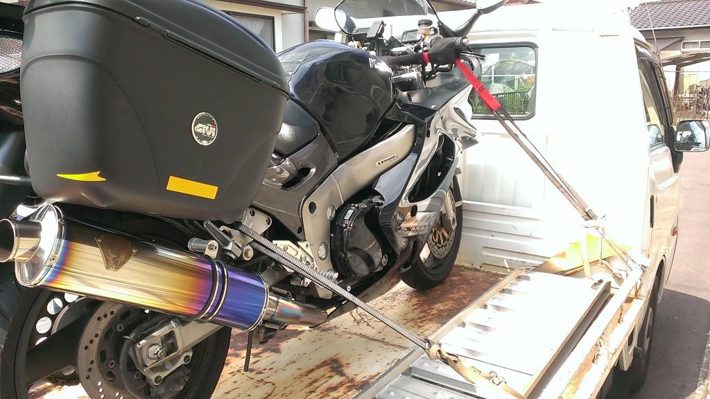バイクの固定