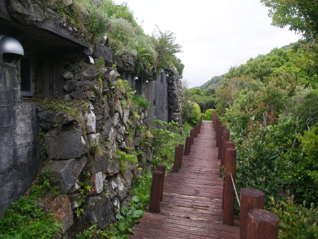 ウッドデッキ状の木道