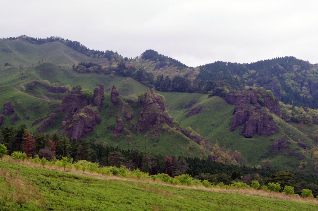 休憩所から見える山